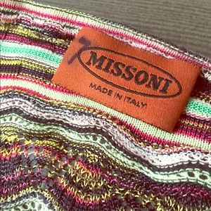 Missoni lurex stripe button up cardigan sweater xs